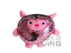 Giocattoli della peluche del Sequin di modo dei bambini su ordinazione di colore rosa