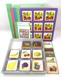 ABC cinese di inglese di marchio di stampa di formato standard del bambino dei capretti su ordinazione dei bambini che impara le schede istantanee educative della scheda di scheda