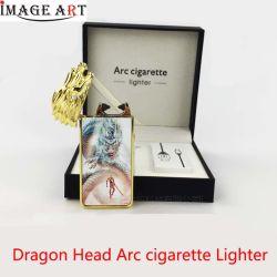 Accenditore elettronico della sigaretta dell'arco del drago di sublimazione del metallo dell'accenditore ricaricabile capo del USB