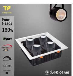 Indicatore luminoso libero LED della pista dell'alta di lumen LED della pista del punto dell'indicatore luminoso 4*28W LED della pista luce intermittente CRI96 Iwatt Dimmable 112W dell'indicatore luminoso 120lm-140lm/W