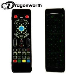 تصميم فريد لوحة مفاتيح متعددة الوسائط ذات حساسية عالية T16 وسائط متعددة 3 في 1 مبسّطة ماوس USB البعيد بلوحة المفاتيح USB لاسلكي 2.4G
