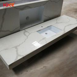 Chris Patten textura de pedra artificial Bancada de cozinha de quartzo