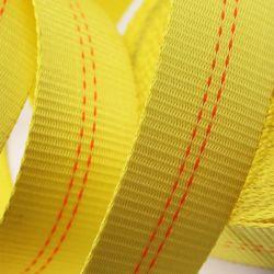 PE Polyester Ratschenband 50mm * 5m Gelbe Cargo Zurrgurt für 5ton