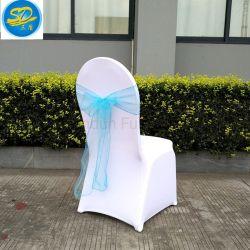 Prix bon marché de gros de l'usine Banquet chaise de salle à manger de couvrir l'écharpe