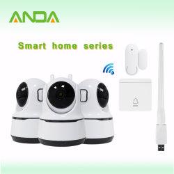 Ai 현관의 벨 연기 탐지기 장비를 가진 지능적인 주택 안전 자동 추적 PTZ WiFi Onvif APP PC 웹 베이비 시터 모니터 경보망 소형 IP CCTV 사진기