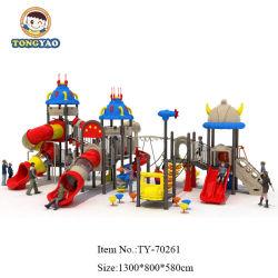 Los niños de plástico al aire libre juego de juegos de equipo del parque de diversiones de diapositivas para niños