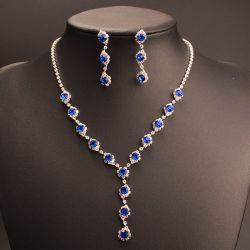 Оптовая торговля устраивающих аксессуары Crystal свадебного ожерелья наборов ювелирных изделий