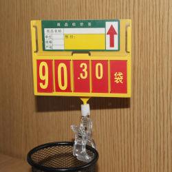 Het Frame van de Foto van de Raad van de Prijs van de supermarkt met Plastic Pop Klem