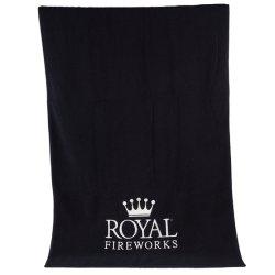 Kundenspezifisches großes Bad-Luxuxtuch, Baumwollnormales gefärbtes Tuch 100% mit elegantem Stickerei-Firmenzeichen