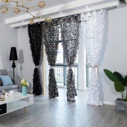 Halber Schattierung-Wohnzimmer-/Raum-Polyester-fester Fenster-Vorhang