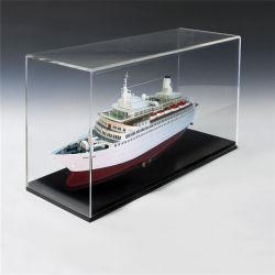 Personnalisés PMMA transparent Matériau imperméable cubique étagère de rangement en acrylique cosmétiques maquillage boîte cadeau avec couvercle/ affichage STAND/rack/armoire/Showcase