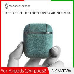 Alcantara Sancore Apple caso Airpods de gama alta.
