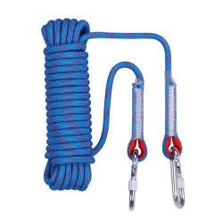 10mm multifunción cuerda dinámica de la seguridad de la cuerda de escalada con doble mosquetón
