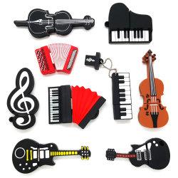 De Schijf van de Flits van de Gitaar USB van het Instrument van de Muziek van pvc van het Beeldverhaal van Lovly