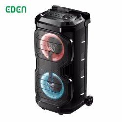 Batterie rechargeable portable sans fil multimédia professionnel DJ Sound box de karaoké Trolley PA Haut-parleur Bluetooth