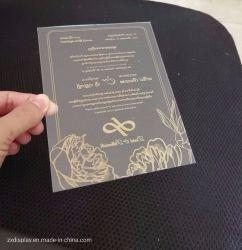 Schede acriliche libere su ordine degli inviti di cerimonia nuziale