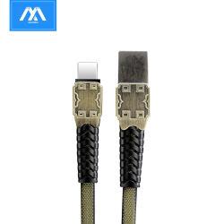 Экранирующая оплетка тип ткани-C 5A быстрой подзарядки сотовых аксессуары для телефонов зарядный кабель USB кабель передачи данных