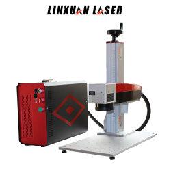 Низкая цена лазерной гравировки маркера Raycus 10W 20W 30W 50W YAG вращающегося 3D-Mini металлический переносной CO2 оптическое волокно станок для лазерной маркировки