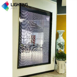 China Fornecedor Cor Transparente Cortina de LED SMD exibir P3.91 tela na parede de vidro para publicidade de Janela