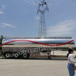 Clw 3 차축 42000L 알루미늄 합금 연료유 유조 트럭 트레일러