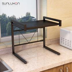 Rack de stockage réglable ustensile de cuisine en acier inoxydable Four à micro-ondes support étagère de rack