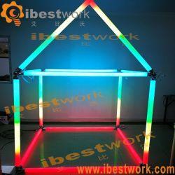 Протокола DMX RGB рождественские украшения молочный белый свет под углом 360 градусов LED Pixel геометрии трубы