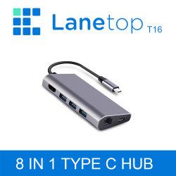 Концентратор USB Lanetop C USB к разъему HDMI SD/TF Card Reader Thunderbolt 3 Адаптер для MacBook Samsung Galaxy S9 Huawei P20 PRO C ступицы