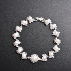 Romântico personalizado bracelete nacarado