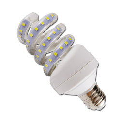 Lâmpada economizadora de energia espiral completo 9W luz LED economizadoras