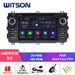 De vierling-Kern van Witson Androïde GPS van de 9.0 Auto DVD voor de Externe Inbegrepen Microfoon van Toyota Auris 2013, Ingebouwde Functie TPMS