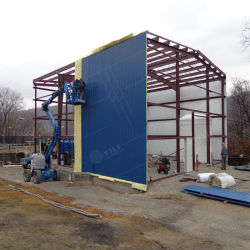 Structure en acier de lumière intégré Atelier de peinture de bois