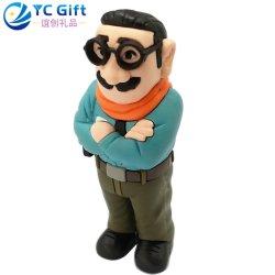 Gli elementi promozionali su ordinazione all'ingrosso del regalo 3D PVC Keyfob Company del ricordo di cerimonia nuziale hanno reso personale l'anello portachiavi di gomma della decorazione della casa del giocattolo della bambola del fumetto di Keychain con il disegno