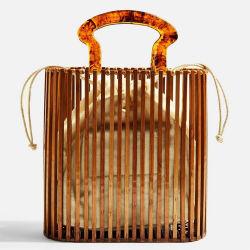 [رنل] حارّ يبيع جميلة نساء خيزرانيّ [بغ لدي] حقيبة يد