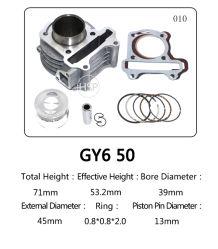 La alta calidad GY6 50cc/60cc/80cc/100cc 125CC/CC/150 piezas para motos de motor Honda Scooter del cilindro de piezas de repuesto