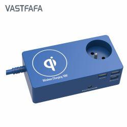 Caricatore del computer portatile del caricabatteria con la spina francese dell'Ue & addebito veloce del USB il computer portatile
