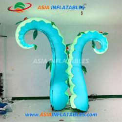 Il LED illumina il polipo gonfiabile di tentacoli per la decorazione