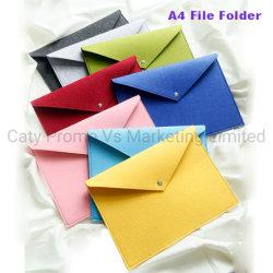 Un feutre de polyester de fournitures de bureau4 Dossier de fichier Document Sac (FIC013)