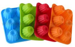 FDA не Memory Stick силиконового герметика Cupcake 6 круглые отверстия формы мыла силиконовые пресс-формы маффин форма для выпечки для выпечки