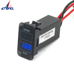 12 V DC Rot Blau LED Voltmeter Buchsenanzeige Single USB Port Car Phone Charger für Toyota Vigo