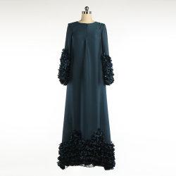 Moslemisches grünes langes Kleid für Damen