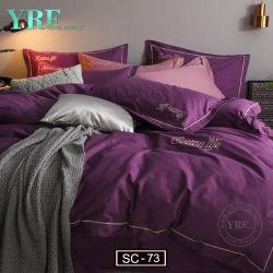 Großhandel Billig Polyester Bettwäscheset mit Zwei Kissen indischer Federdecke Bedruckte Bettzeug Set