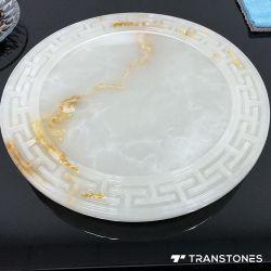 Nuevo y flexible para la mesa de piedra de alabastro translúcidos