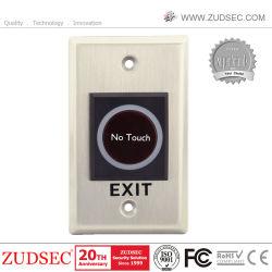 Bouton Quitter plaque en acier inoxydable, capteur infrarouge de déverrouillage de porte Le contrôle des accès pas de toucher le bouton Quitter
