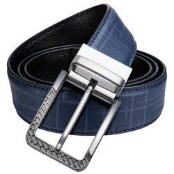 جلد رجال فاخرة علامة تجارية وسر بني لون أزرق الأعلى جودة الحزام
