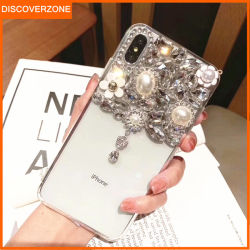 Teléfono de los casos de cristal de Diamante de cristal de bricolaje Teléfono Móvil de los casos