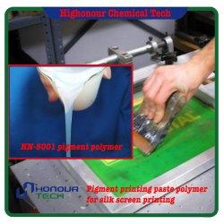 A impressão de tela à base de água de polímero de pasta branca