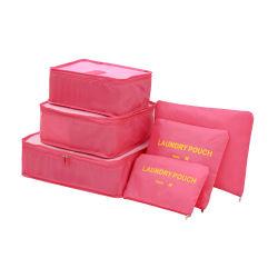 袋をソートする6セット旅行記憶袋の多機能の荷物は構成パッケージに-立方体の記憶袋着せる旅行圧縮袋を防水する