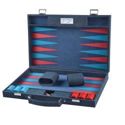 Backgammon artisanal en bois couleur personnalisée définie