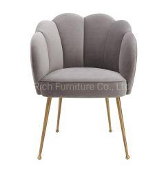 Muebles de hogar moderno restaurante de terciopelo de muebles de comedor Silla de oro