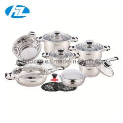 La línea de la realeza 16 piezas de borde amplio conjunto de utensilios de cocina Material de acero inoxidable para todas las cocinas
